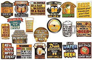 20 Pieces Beer Stickers Cool Stickers for Beer Coolers