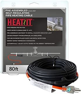 Heat Tape for Water Pipes Premium Pipe Freeze Protection Cable with Built-In Thermostat