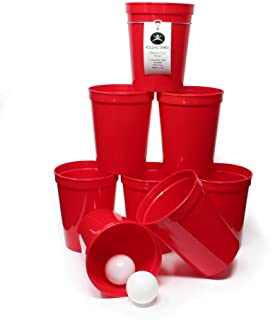 Rolling Sands 16 Ounce Reusable Plastic Stadium Cups Beer Pong