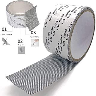 ACEBON Window Screen Repair Kit Tape Strong Adhesive & Waterproof Fiberglass Covering