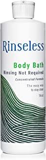 Rinseless Body Bath Wash 16 oz Waterless Non Rinse Concentrated Formula