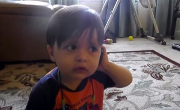 baby on the phone