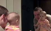 baby and a mirror