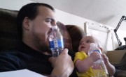 daddy and a baby