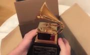 unboxing a Grammy Award