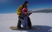tiny snowboarder