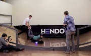 trying a hoverboard