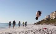 stunts on a beach
