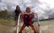 baby rocking water ski