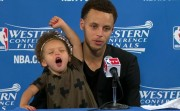 Steph Curry and his daughter Riley