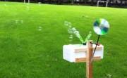 Wind powered bubble-machine