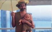 Baby Zach and Dad