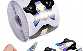 300 pieces Holographic Nail Art Extension Tips Nail Form Guide
